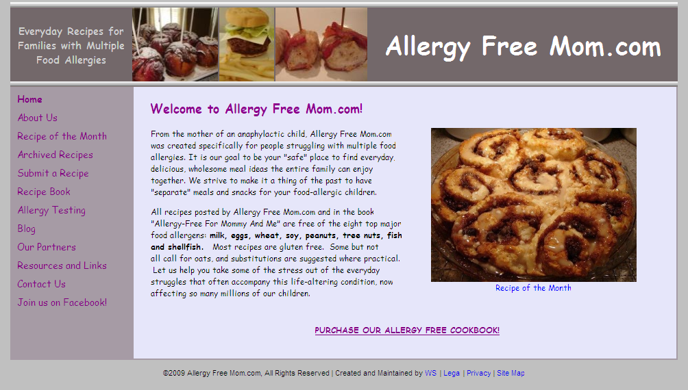 Allergy free mom best allergy sites website httpallergyfreemom site description everyday recipes for families with multiple food allergies forumfinder Image collections