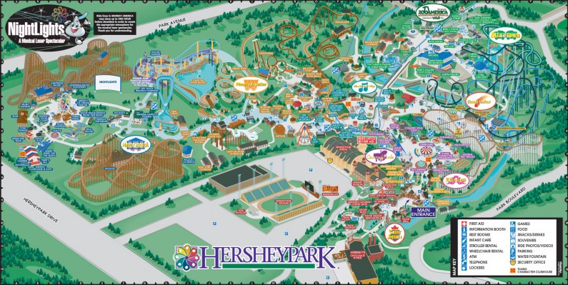 HersheyPark-map