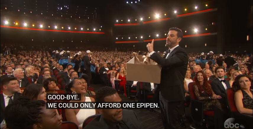 Jimmy Kimmel Takes A Jab At Epipen Prices At The Emmy's [VIDEO]