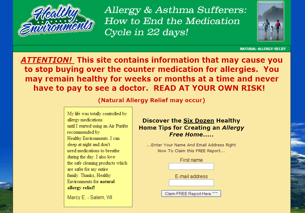 Healthy Environments – Everything for the Allergy Free Home