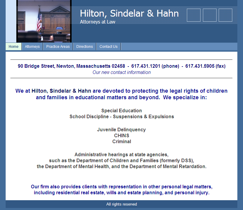 Hilton, Sindelar & Hahn Attorneys at Law (USA-MA)