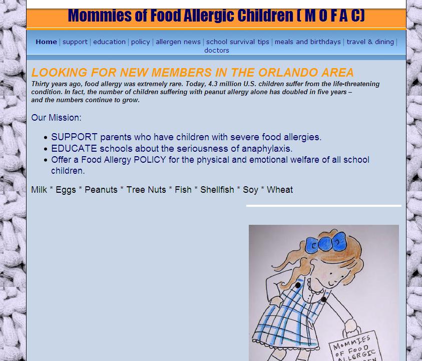 Mommies of Food Allergic Children (MOFAC) (USA-FL)