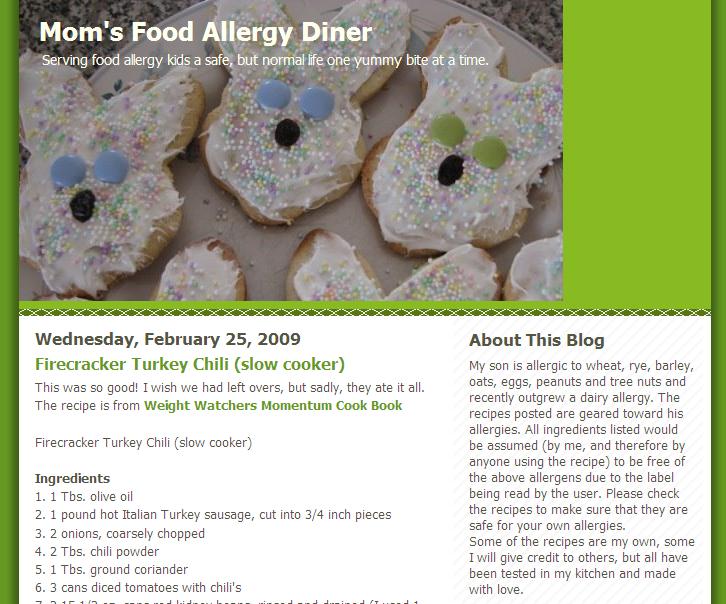 Mom's Food Allergy Diner