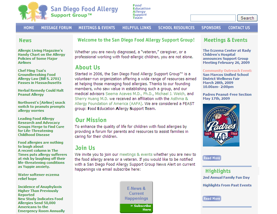 San Diego Food Allergy Support Group (USA-CA)