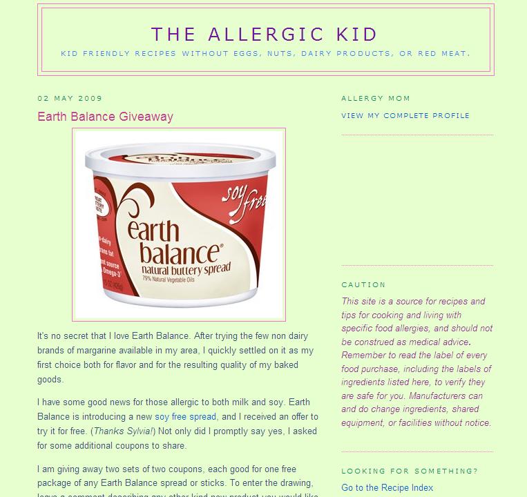The Allergic Kid