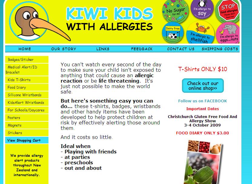Kiwi Kids With Allergies