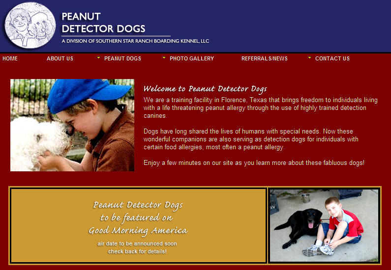 Peanut Detector Dogs