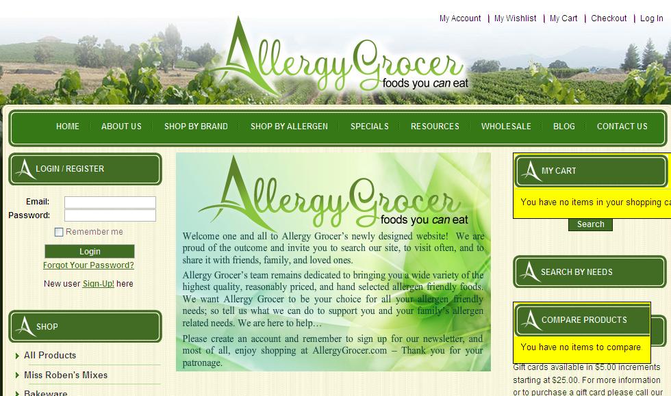 Allergy Grocer – Miss Roben's