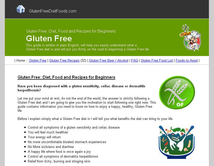 Gluten Free: Diet, Foods and Recipes for Beginners