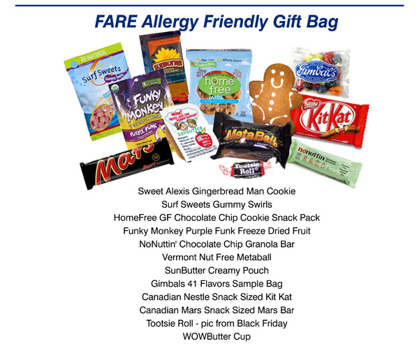 Free Food Allergy Gift Bag